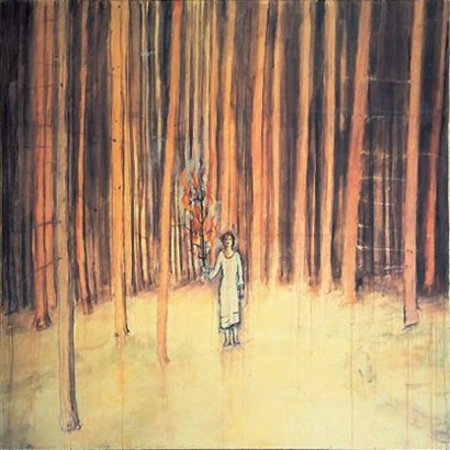 آنسلم کیفر / مرد در جنگل / 1971