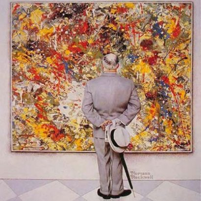 "نورمن راکوِل / Norman Rockwell ""The Connoisseur"" 1962 