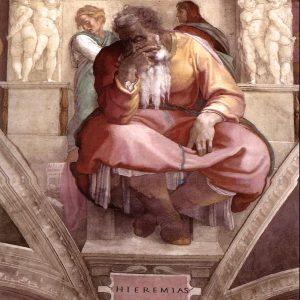 میکل آنژ ارمیای نبی michelangelo the prophet jeremiah