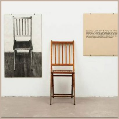 joseph kosuth one and three chairs ٓژوزف کاسوت