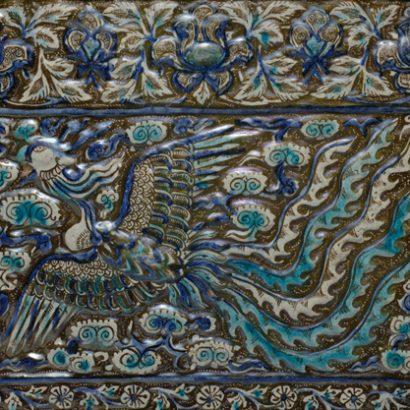 کاشی زرین فام متروپليتن-اواخر-قرن-13-ميلادي-احتمالا-تخت-سليمان