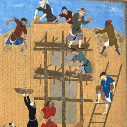 Kamal ud'din Bihzad, 1494-1495 C.E. کمالالدین بهزاد، سازندگان کاخ خورنق، ۸۹۸ ه.ق