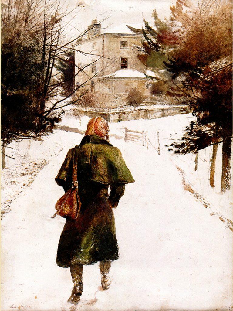 اندرو وایت تابلوی «پالتوی پشمی»را در سال ۱۹۷۵ کشیده است.
