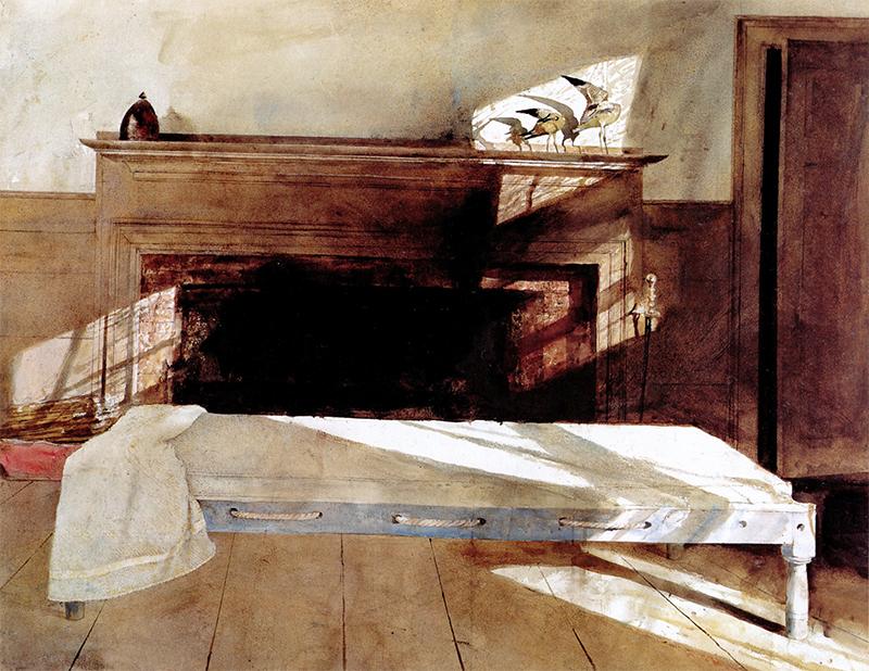 اثر «اتاق مِین» (۱۹۹۱) از اندرو وایت، نقاش آمریکایی