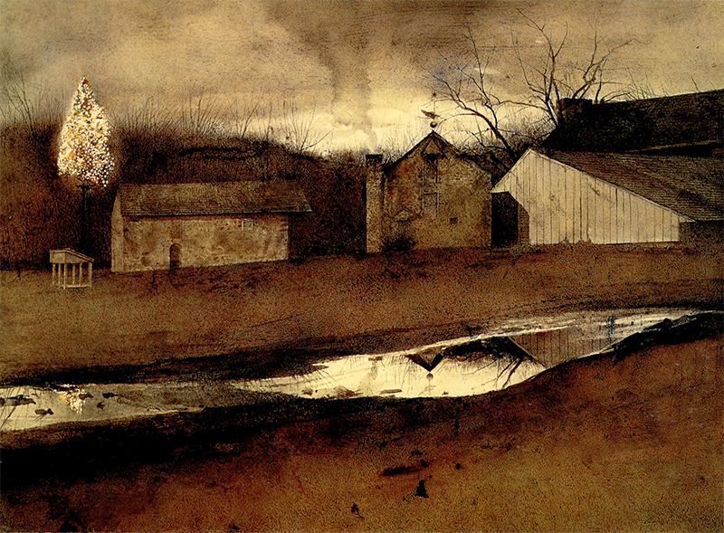 اندرو وایت این نقاشی با عنوان نور آخر ار در سال ۱۹۸۸ کشیده است.