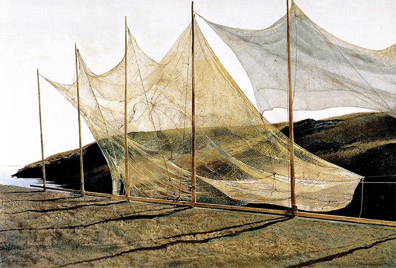 نقاشی اندرو وایت با عنوان یکشنبهی سفید که در سال ۱۸۹۸ کشیده است.