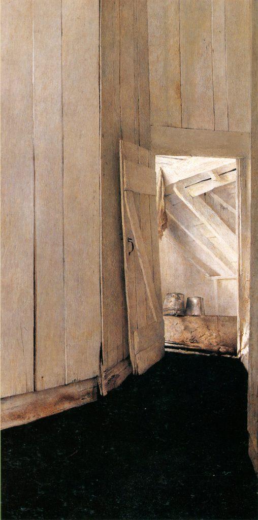 اندرو وایت در سال ۱۹۵۳ این نقاشی را با عنوان «کلبهی تابستانی» تصویر کرده است.