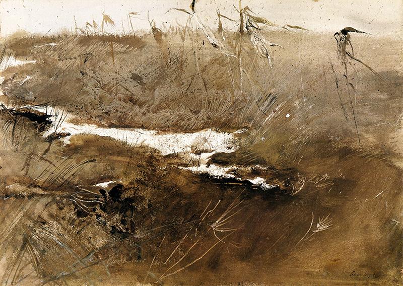 نقاشی آبرنگی «لبهی دشت» را اندرو وایت در سال ۱۹۵۵ تصویر کرده است.