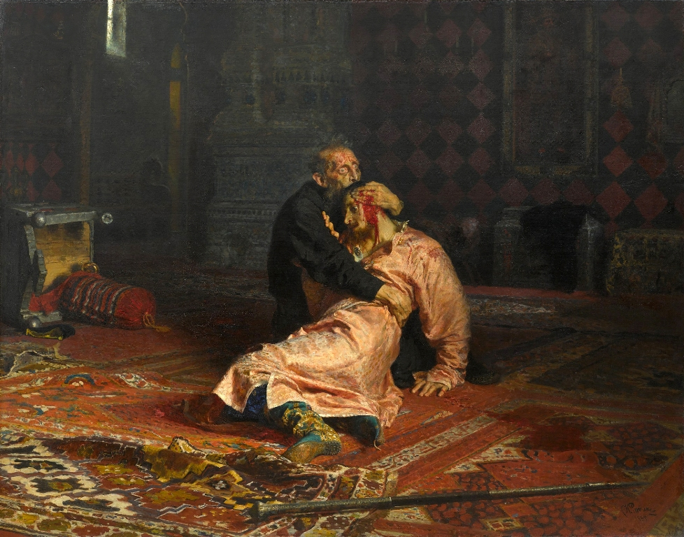 Ivan the Terrible and His Son Ivan ایوان مخوف و پسرش ایلیا رپین