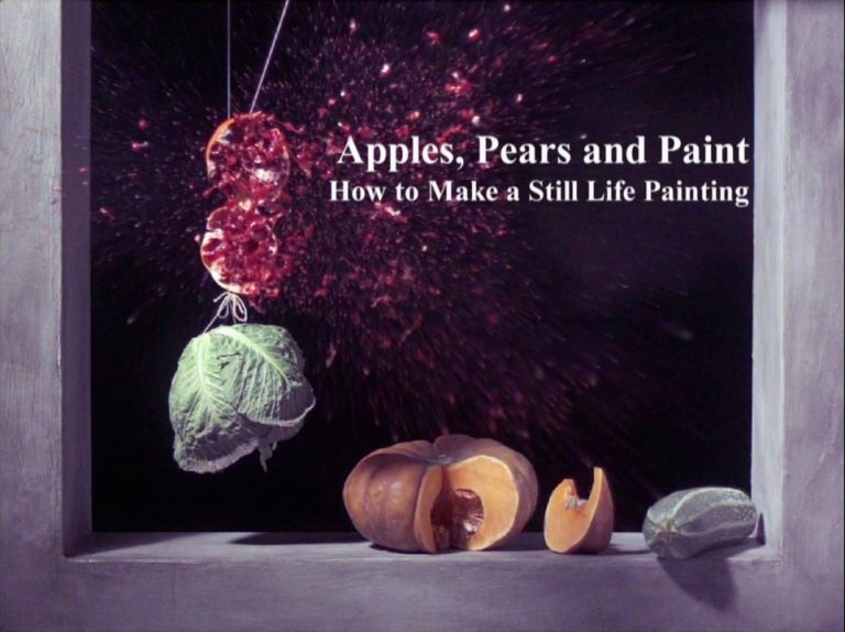 apples, pears and paint, How to make a still life painting