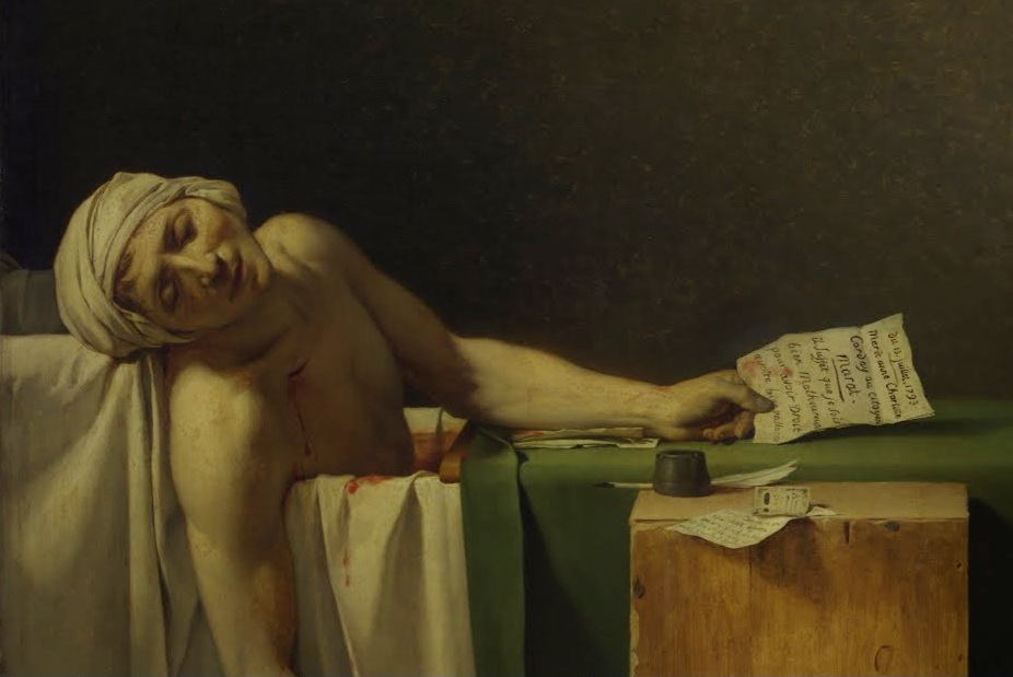 Death of Marat, Jacques-Louis David, 1793