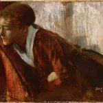 Edgar Degas, Melancholy​, 1874, Philips Collection, Washington DC, ادگار دگا ماخولیا