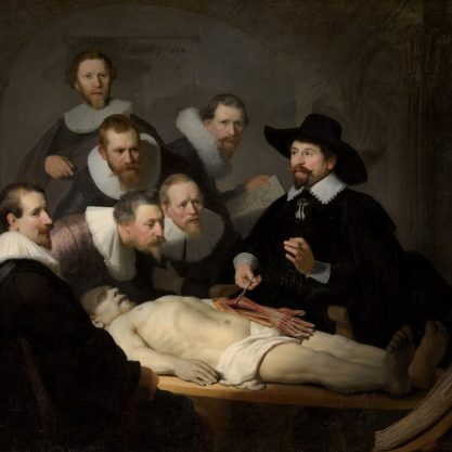 The Anatomy Lesson of Dr. Nicolaes Tulp rembrandt dutch painters ۱۶۳۲ 1632