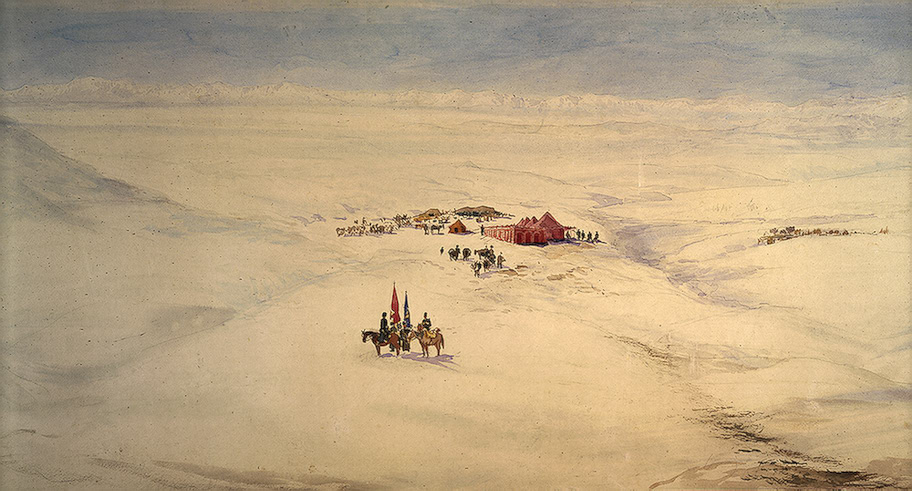 Panorama of Persia, Pavel Yakovlevich Pyasetsky, پاول یاکولویچ پیاستسکی iran-russia iran landscape