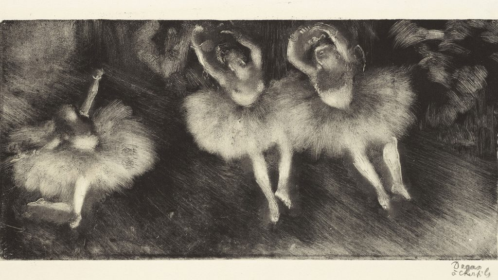 Edgar Degas' monotypes