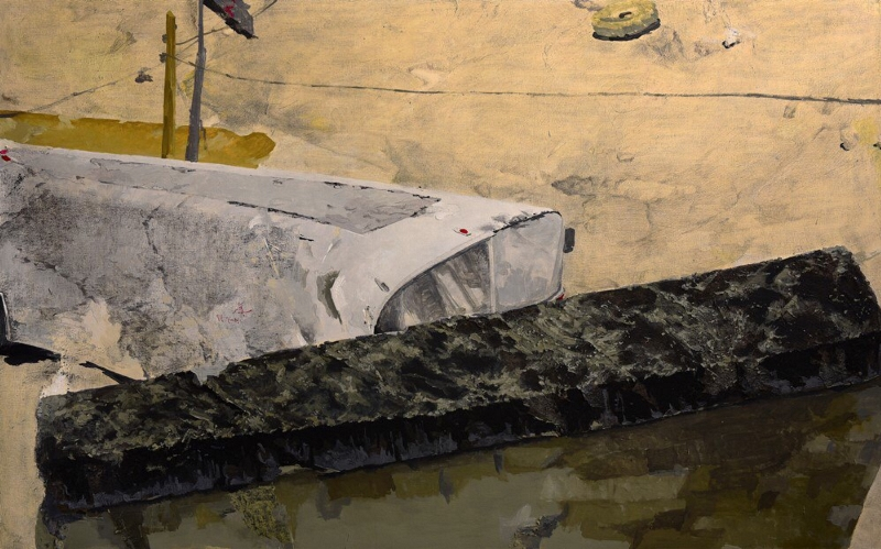 Bijan Akhgar _ Barahouleh _ oil & mixed media on canvas _ 125x210 cm _ 2015