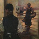 «کارگاه نقاش» اثر علیاکبر یاسمی (۱۳۰۲) (بخشی از اثر)