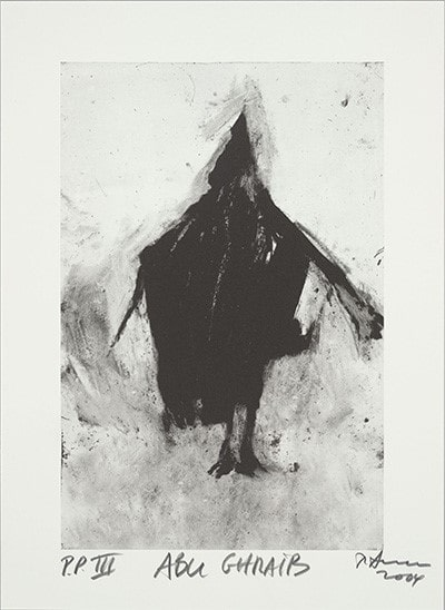 ابو غریب، ۲۰۰۴، جوهر روی کاغذ، چاپ سنگی، ۲۷ در ۴۱ س.م