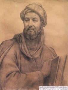 ابوالحسن صدیقی (متولد ۱۲۷۳)، چهره ابوعلی سینا، سیاهقلم روی کاغذ