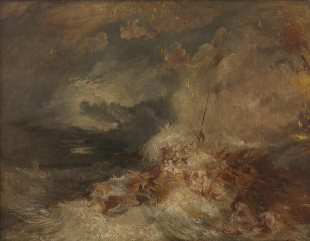 A Disaster at Sea ?c.1835 Joseph Mallord William Turner 1775-1851 Accepted by the nation as part of the Turner Bequest 1856 http://www.tate.org.uk/art/work/N00558 / ترنر / جهان مدرن / فاجعه ای در دریا