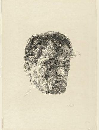 edvard munch, self portrait , drawing