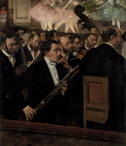 The Orchestra at the Opera by DEGAS Impressionism Musée d'Orsay station