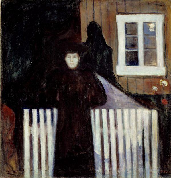 ادوارد مونک و ۲۷ اثر او، Edvard_Munch_-_Moonlight_(1893)-minkasr