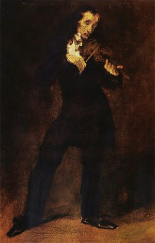 Eugène Delacroix Paganini 1831