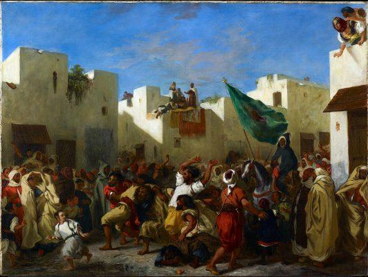 Eugene-Delacroix-Convulsionists-of-Tangier-1837
